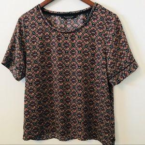 Mason Scotch & Soda Womens Purple Shirt Top Sz XS